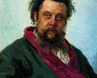 Портрет композитора М. П.Мусоргского — Илья Репин