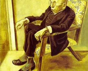 Portrait of the Writer Max Herrmann Neisse — Георг Гросс