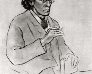 Portrait of the writer Vyacheslav Ivanov — Константин Юон