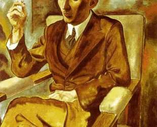 Portrait of the Writer Walter Mehring — Георг Гросс