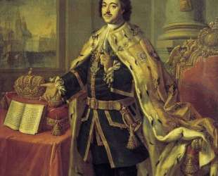 Portrait of Tsar Peter I — Алексей Антропов