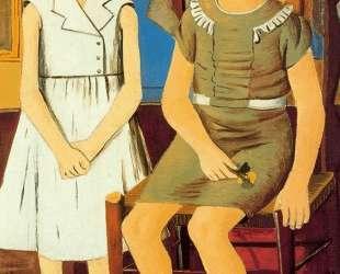 Portrait of two girls — Рафаэль Забалета