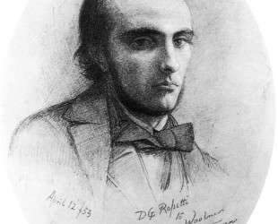 Portrait of William Rossetti (orange) — Данте Габриэль Россетти