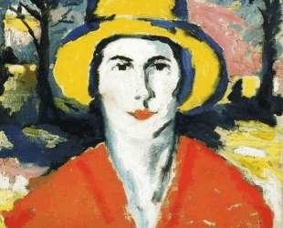 Портрет женщины в желтой шляпе — Казимир Малевич