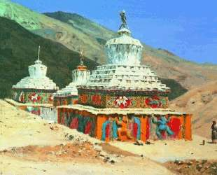 Posthumous monuments in Ladakh — Василий Верещагин