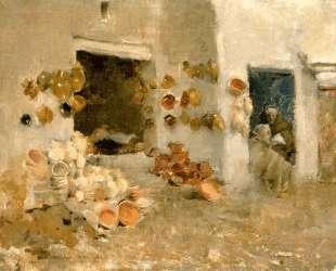 Pottery Shop at Tunis — Уиллард Меткалф
