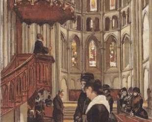 Prayer in the Saint Pierre Cathedral in Geneva — Фердинанд Ходлер