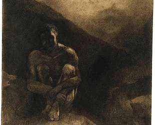 Primitive Man Seated in Shadow — Одилон Редон
