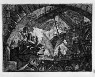 Prisoners on a Projecting Platform — Джованни Баттиста Пиранези