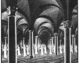 Procession in Crypt — Мауриц Корнелис Эшер