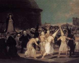 Procession of Flagellants — Франсиско де Гойя