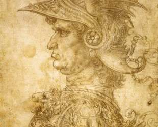 Profile of a warrior in helmet — Леонардо да Винчи