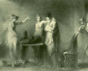 Psyche and Her Two Sisters — Жан-Оноре Фрагонар