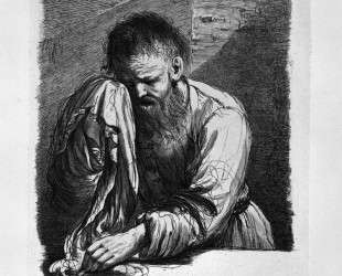 Old Weeping (half length) by Guercino — Джованни Баттиста Пиранези