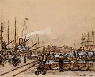 Quayside in Le Havre — Максим Мофра