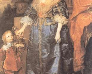 Королева Генриетта Мария и её карлик Сэр Джеффри Хадсон — Антонис ван Дейк