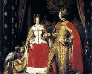 Queen Victoria and Prince Albert at the Bal Costume — Эдвин Генри Ландсир