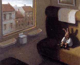Rabbit on a Train (detail) — Михаэль Сова