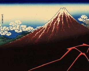 Rainstorm beneath the Summit — Кацусика Хокусай