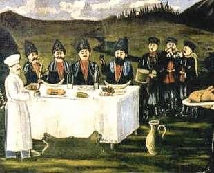 Кутеж во время сбора винограда — Нико Пиросмани