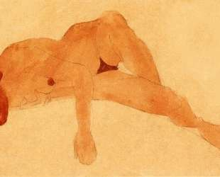 Reclining Female Nude — Эгон Шиле
