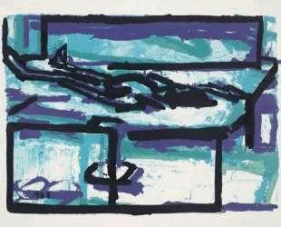 Лежащая фигура I — Франк Ауэрбах