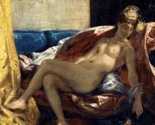 Лежащая одалиска или женщина с попугаем — Эжен Делакруа