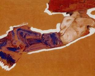 Reclining Semi Nude with Red Hat — Эгон Шиле