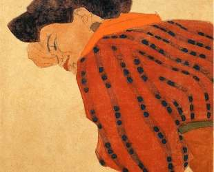 Reclining Woman with Red Blouse — Эгон Шиле