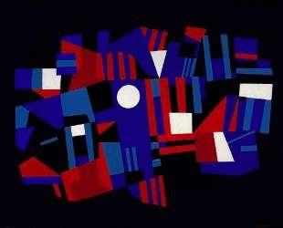 Red and Blue Composition — Эд Рейнхардт