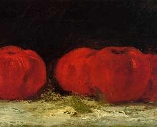 Красные яблоки — Гюстав Курбе