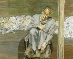 Рыжий мужчина на стуле — Люсьен Фрейд