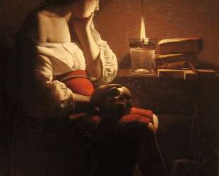 Repenting Magdalene, also called Magdalene in a Flickering Light — Жорж де Латур
