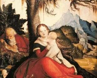 Святое семейство под открытым небом (Отдых на пути в Египет) — Ханс Бальдунг