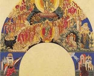 Воскресение Христово. Эскиз фрески для храма Успeния Богородицы в Ольшанах — Иван Билибин