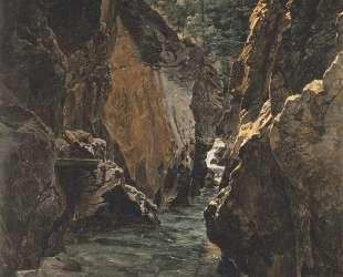 Rettenbach-gorge at Ischl — Фердинанд Георг Вальдмюллер