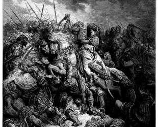 Ричард Львиное Сердце, сражение при Арсуфе, 1191 год — Гюстав Доре