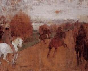 Всадники на дороге — Эдгар Дега