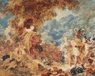 Rinaldo in the garden of the palace of Armida — Жан-Оноре Фрагонар