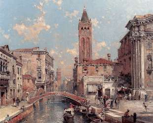 Rio Santa Barnaba, Venice — Франц Рихард Унтербергер