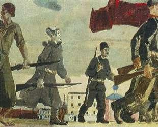 Восстание года. Эскиз росписи для ВСХВ — Александр Дейнека