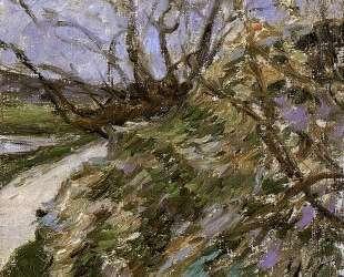 Речные берега зимой — Поль Гоген