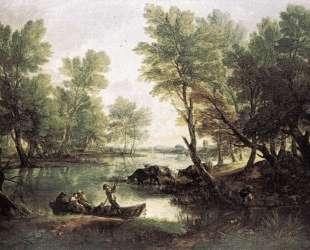 River landscape — Томас Гейнсборо