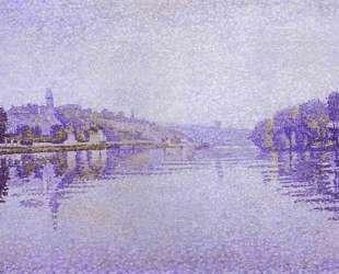River's Edge The Siene at Herblay — Поль Синьяк