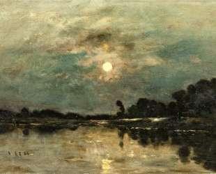 Берега реки в лунном свете — Шарль-Франсуа Добиньи
