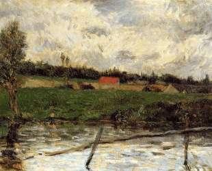 Речной берег (Бретонский пезаж) — Поль Гоген