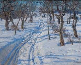 Дорога в зимнем саду — Николай Богданов-Бельский