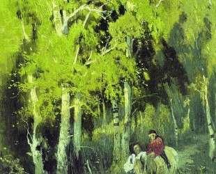 Дорога в березовом лесу — Фёдор Васильев