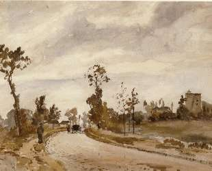 Road to Saint Germain, Louveciennes — Камиль Писсарро