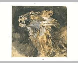 Голова рычащего льва — Эжен Делакруа
